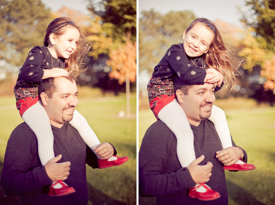 Toronto Family Photographer : Wilson Batista and his daughter in the park