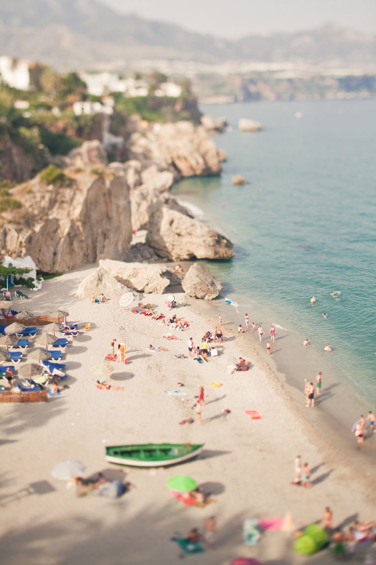 Toronto Photographer : Nerja, Spain : tilt-shift picture