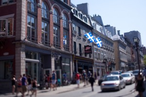 Quebec City street : tilt-shift picture
