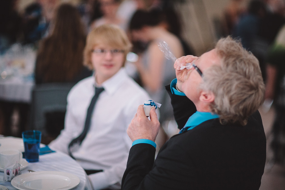 Documentary Toronto Wedding pictures - blowing bubbles at the wedding