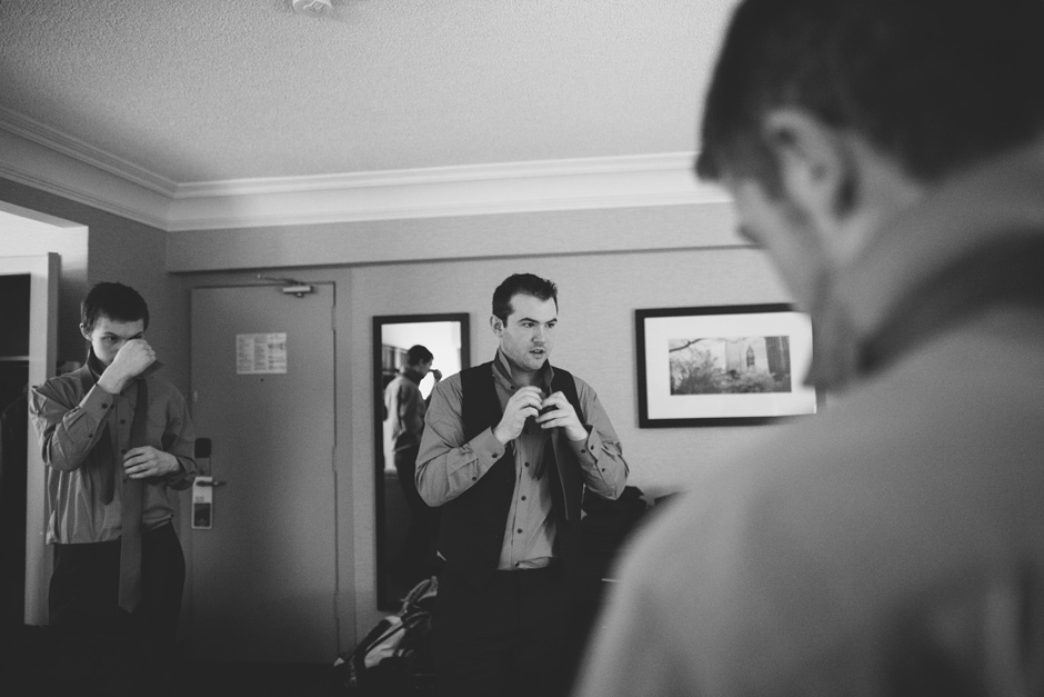 Best Toronto Wedding Photographers - getting ready at the hotel