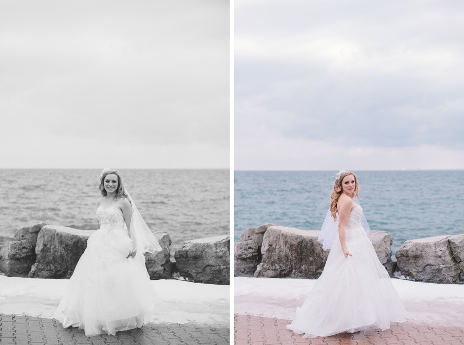 Toronto Wedding Portrait Photographers by Lake Ontario