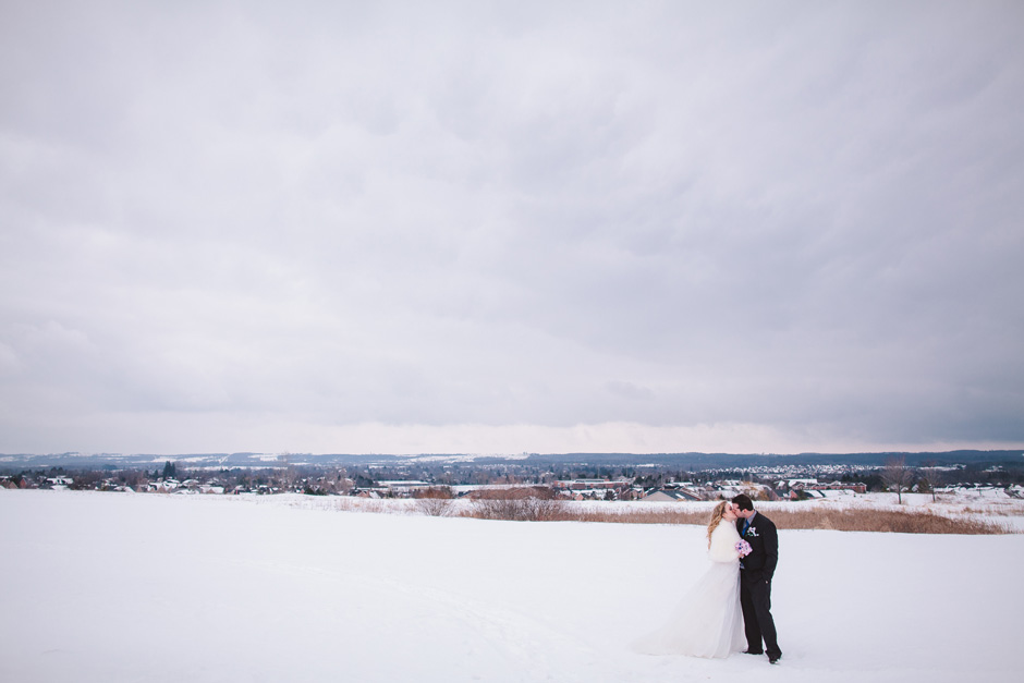 Toronto Wedding Photographer - epic snow portrait outdoors during winter