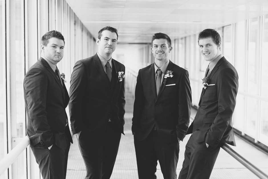 Portrait with the Groomsmen at Atlantis Pavilions in Toronto