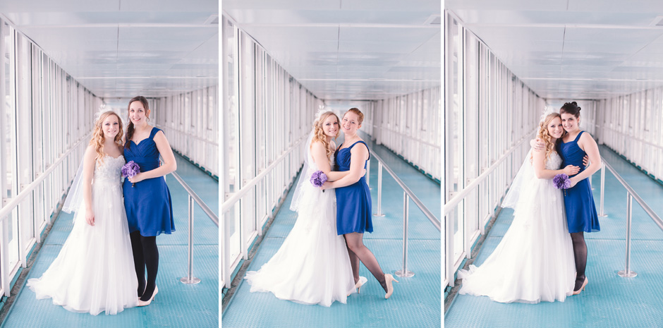 Portraits with Bridesmaid at Atlantis Pavilions in Toronto