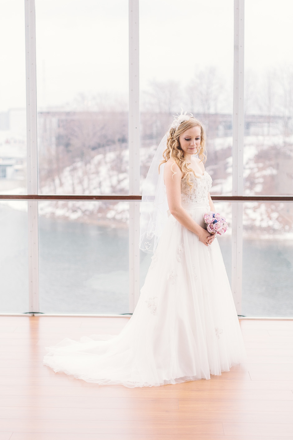 Toronto Wedding Portrait Photography - Bride posing in natural light