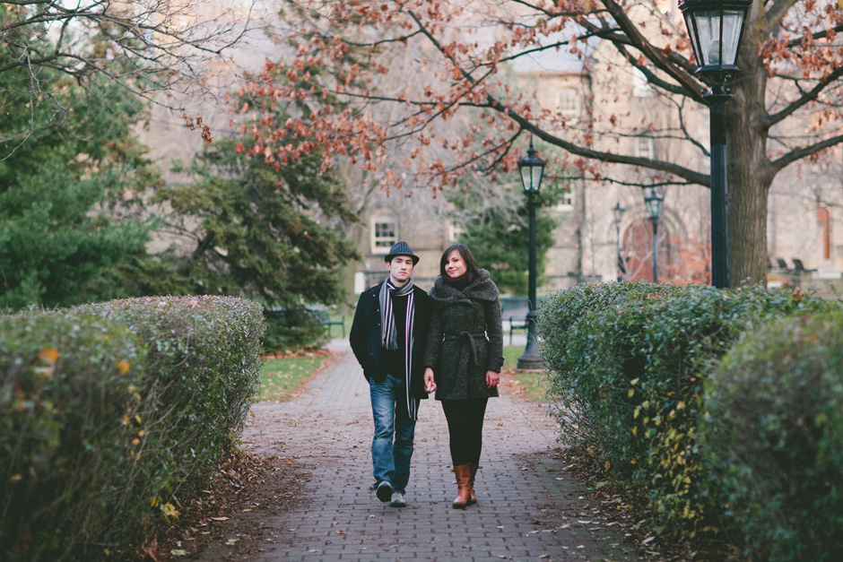 Engagement Photographers in Toronto at U of T campus