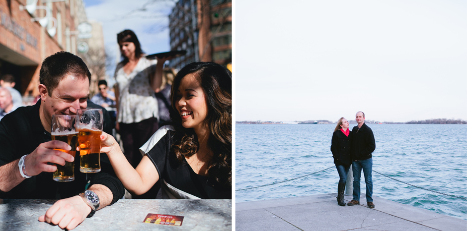 Toronto Engagement photo by the Harbourfront