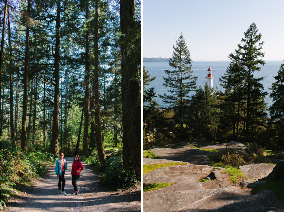 Lighthouse Park near Vancouver with Lara Eichhorn and Jennifer Hudson Smith