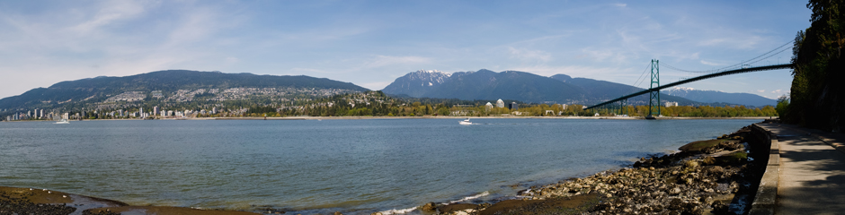 Panorama of Stanley Park in Vancouver