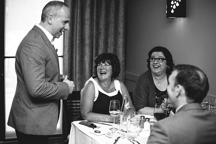 Documentary Toronto Wedding photographer in restaurant