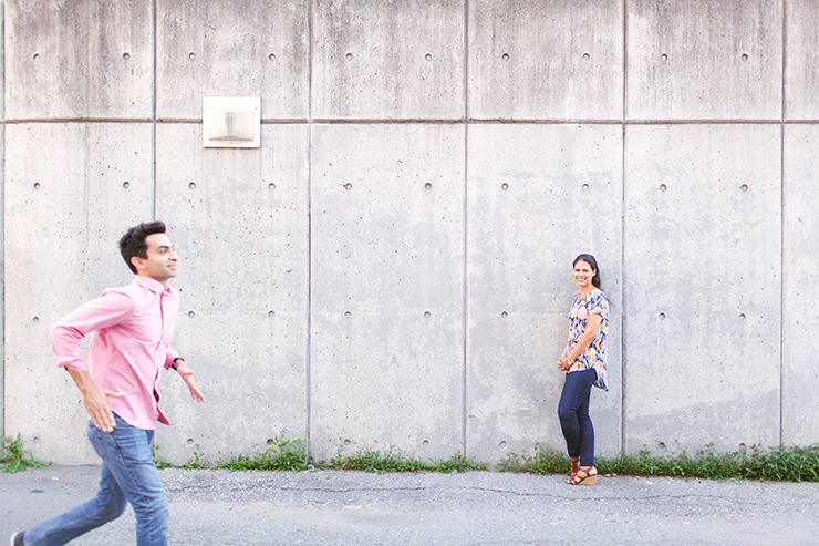 Fun Engagement photos in Toronto