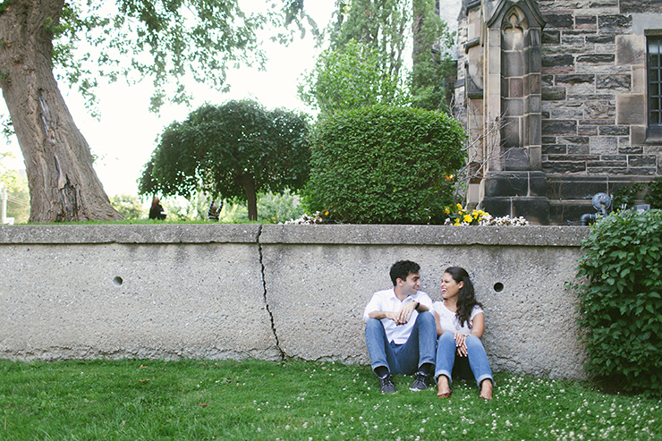 Engagement Photographer at U of T in Toronto