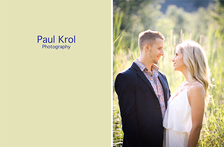 Engagement photography in field