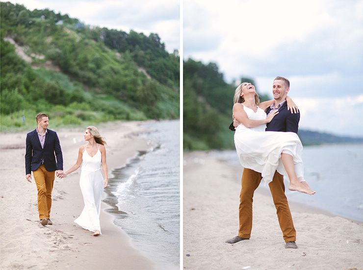 Engagement photographer in Toronto at Scarborough Bluffs by Lake Ontario