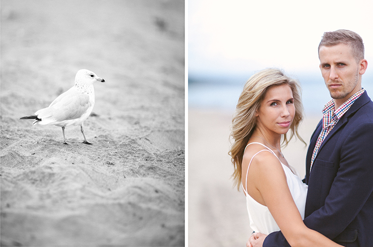 Engagement photography by the beach in Toronto
