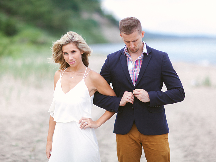 Toronto engagement photography by beach