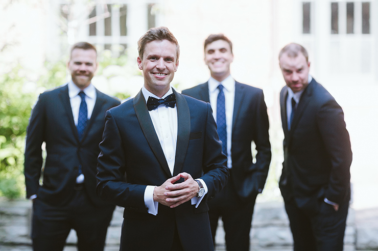 Wedding Bridal party portraits at wedding in Toronto