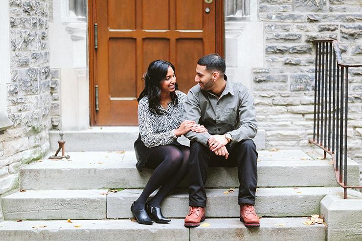 Engagement photo in Toronto