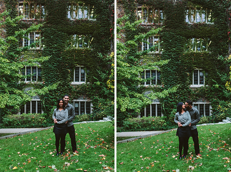 Engagement photography at U of T