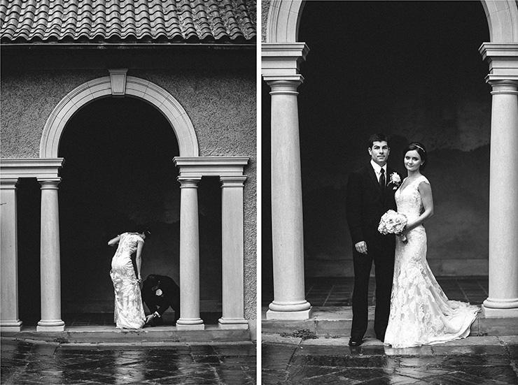Wedding photographer in Toronto doing B&G portraits