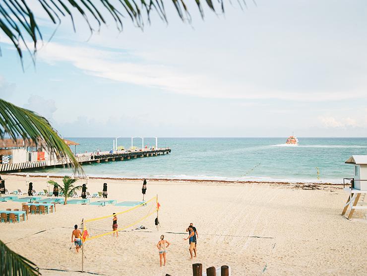 Playacar Palace beach in Playa del Carmen, Mexico destination wedding