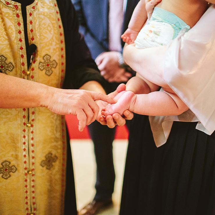 Baptism photographer in Toronto at Greek Church