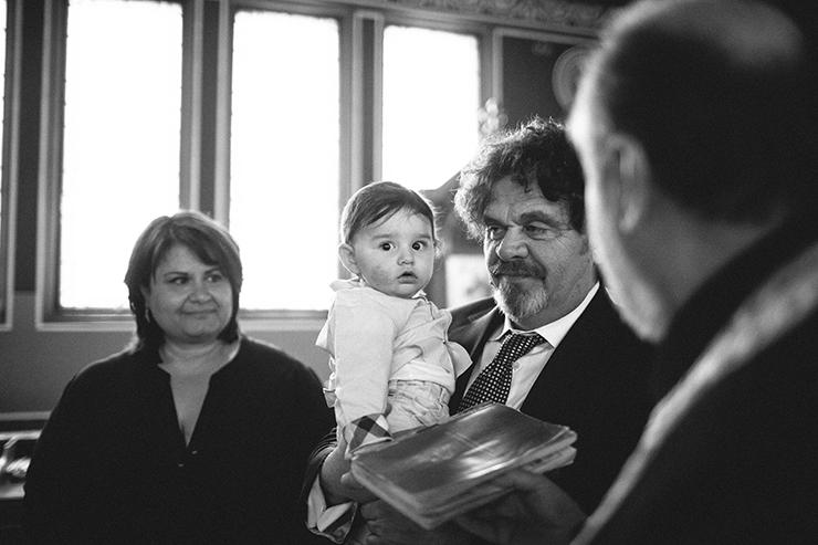 Documentary Toronto baptism photographer at Greek Church