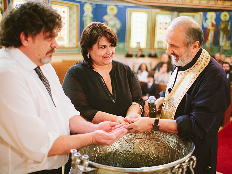 Toronto Baptism photographer at St. George's Greek Orthodox Church of Toronto