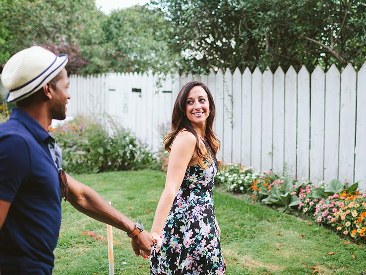 Happy engagement photos in Toronto