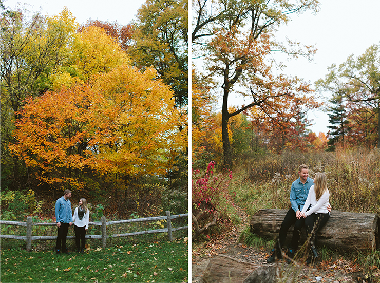 Engagement photographer in Toronto at High Park