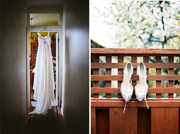 Wedding Dress and shoes photography