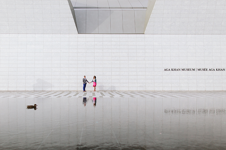 Aga Khan Museum Toronto Engagement photography
