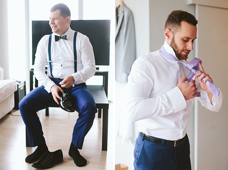 Toronto Groom Getting Ready wedding photography
