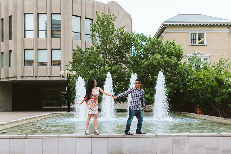 Fun Engagement photography in Toronto