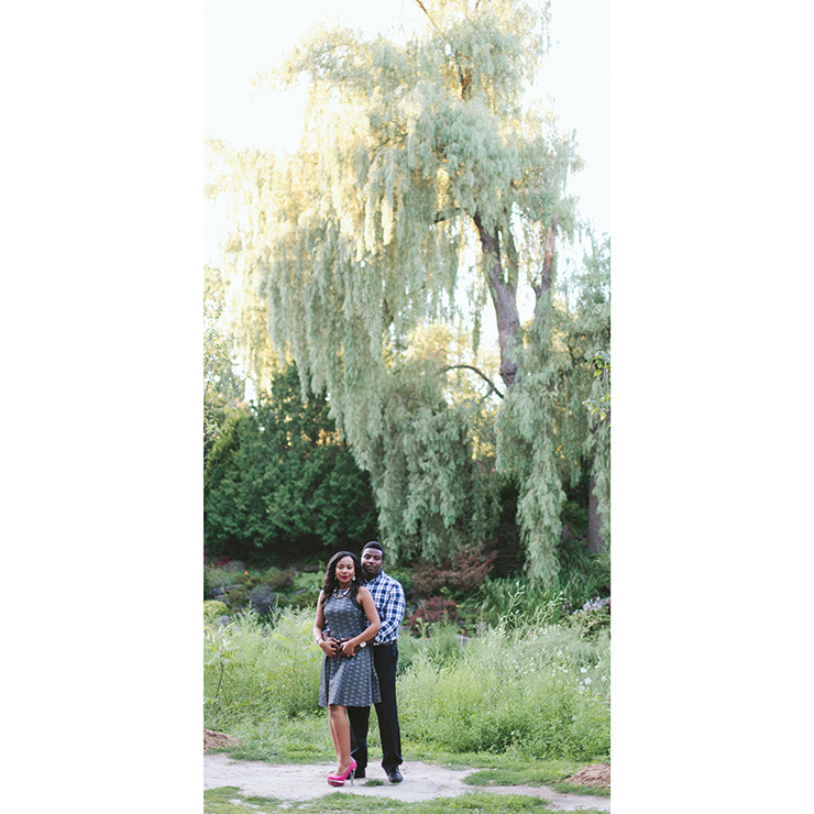 Engagement photographer in Toronto at Edwards Gardens